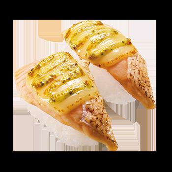 炙りサーモンバジルチーズ