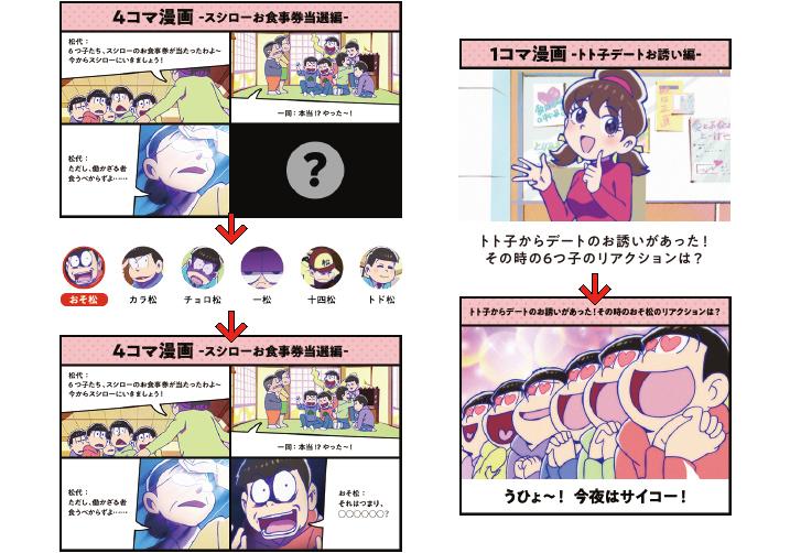 ◆おそ松さん4コマ/1コマ漫画で遊べる!